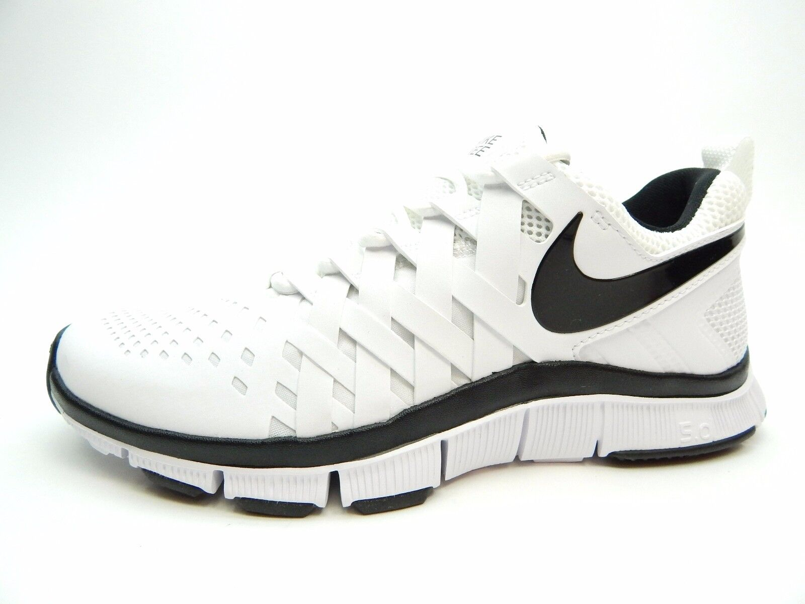 33359e2826fd0 hot sale NIKE FREE TRAINER 5.0 TB 579811 100 WHITE BLACK MEN SHOES SIZE 7.5  TO