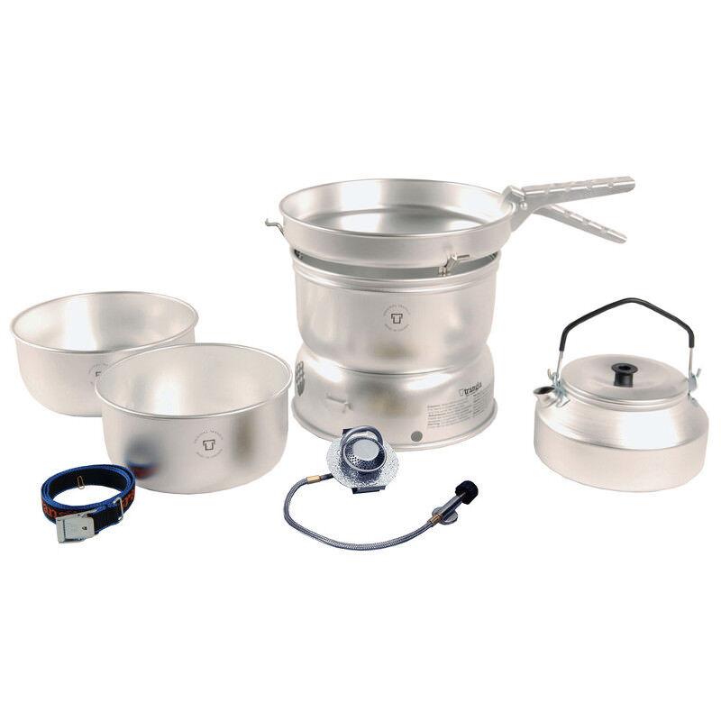 Trangia 25-2 UL Ultraleichte 3-4 Person Kochset mit Wasserkessel & Gasbrenner