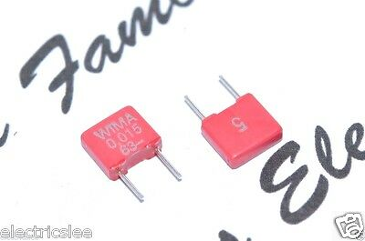 0,015µF 15nF 10pcs-WIMA FKP2 0.015uF 100V 2.5/% pitch:5mm Capacitor