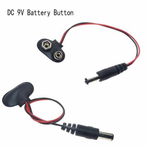 New DC 9V Mega 2560 Buckles Cable Connector Battery Button Adapter Power Plug