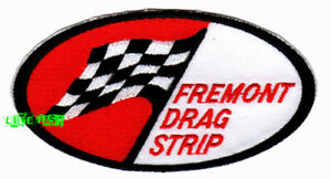 FREMONT-DRAG-STRIP-PATCH-EMBROIDERED-IRON-ON-hot-rod-vintage-retro-drag-racing