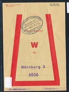 81450) Vorbindezettel Bahnpost Würzburg-hambourg Train 881 1979 > Nuremberg-afficher Le Titre D'origine