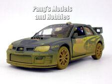 Subaru 2007 Impreza WRC 1/36 Scale Diecast Model by Kinsmart - BLUE/MUDDY