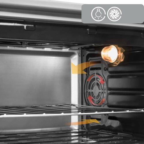 Icqn 42 L Anthracite Mini-four avec éclairage intérieur Pizza-Four émaillé