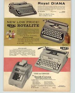 1962 PAPER AD Royal Diana Royalite Tab-O-Matic Portable Typewriter