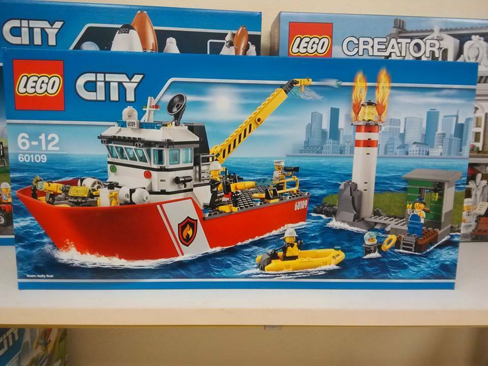 LEGO CITY 60109 - MOTOBARCA ANTI INCENDIO - FIRE BOAT - NUOVO NEW