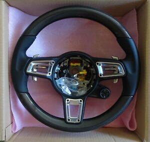 Porsche 991.2 Carrera Gts Gt3 Rs Turbo Fibre Carbone Volant Noir / Argenté C Pour Assurer Des AnnéEs De Service Sans ProblèMe