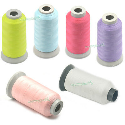 3000 Yards Glow In The Dark Machine Embroidery Thread Sewing 150D Optical White
