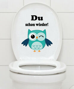 WC Aufkleber Eule - Toilette Badezimmer Bad Toiletten ...