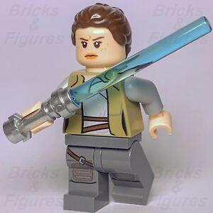 New-Star-Wars-LEGO-Rey-Dark-Tan-Jacket-Minifigure-Jedi-Training-75200-Genuine