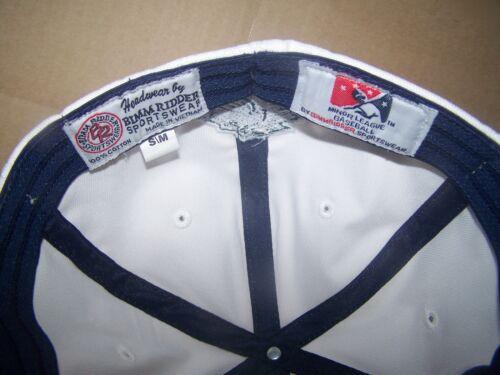 Charlotte Knights FITTED SMALL//MEDIUM FLAT BILL-WHITE MINOR LEAGUE BASEBALL CAP