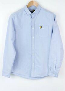 Lyle-amp-Scott-Hombre-Manga-Larga-Informal-Camisa-Formal-Talla-M-Mz676