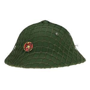 Guerre-du-Vietnam-chapeau-ete-NVA-Vietcongs-VC-Casque-Colonial-jungle-Cap-avec-insigne-net