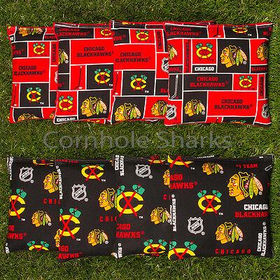 CHICAGO BLACKHAWKS /& Cubs CORNHOLE BEAN BAGS 8 ACA Regulation Corn Toss Game