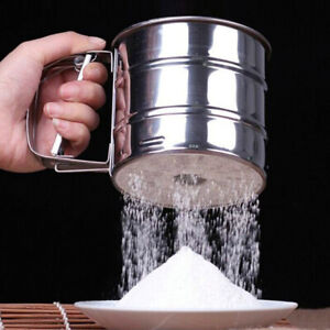 Stainless-Steel-Mesh-Flour-Icing-Sugar-Sifter-Sieve-Strainer-Cup-Baking-Tool-New