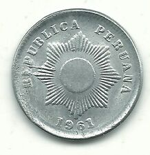A VERY NICE HIGH GRADE AU/UNC 1963 PERU 1 CENTAVO COIN-FEB199