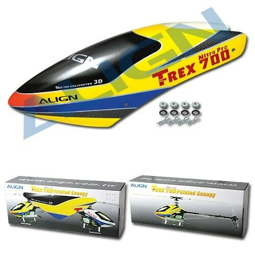 Align AGNHC7002 T-Rex 700N Painted Canopy (Yellow)