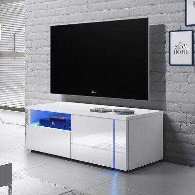 TV-Lowboard Carol II mit Beleuchtung LED TV-Tisch Sideboard TV-Schrank Hochglanz