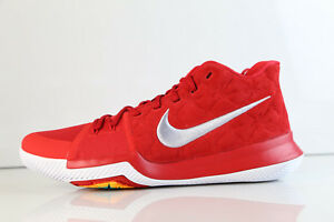 d351907523ae5a Nike Kyrie 3 University Red Suede Wolf Grey 852395-601 8-10 2 1 prm ...