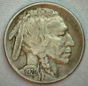 1920-S-US-Buffalo-5c-Fine-Cent-Coin-Copper-Nickel-Extra-Fine