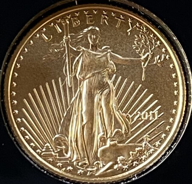 2011 Gold $5 UNCULTURED American Eagle 1/10th Oz.