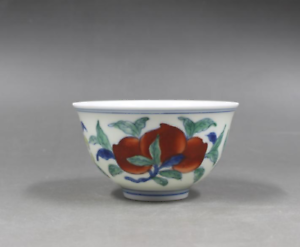 China Ming dynasty Chenghua Blue and white flowers Bucket Chicken Bowl