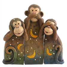 Cute See No, Speak No, Hear No Evil Monkeys Statue Ornament Monkey
