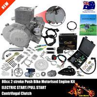 80cc Electric Start Petrol Motor Engine Kit For Motorised Bicycle Push Bike