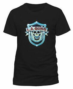 LA-Guns-Shield-Logo-Shirt-S-M-L-XL-XXL-T-Shirt-Official-Metal-Rock-Band-Tshirt