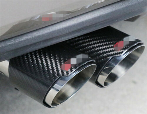 """Universal Car Exhaust Tip Muffler Pipe 2.75/"""" Inlet Real Carbon Fiber Stainless 1"""