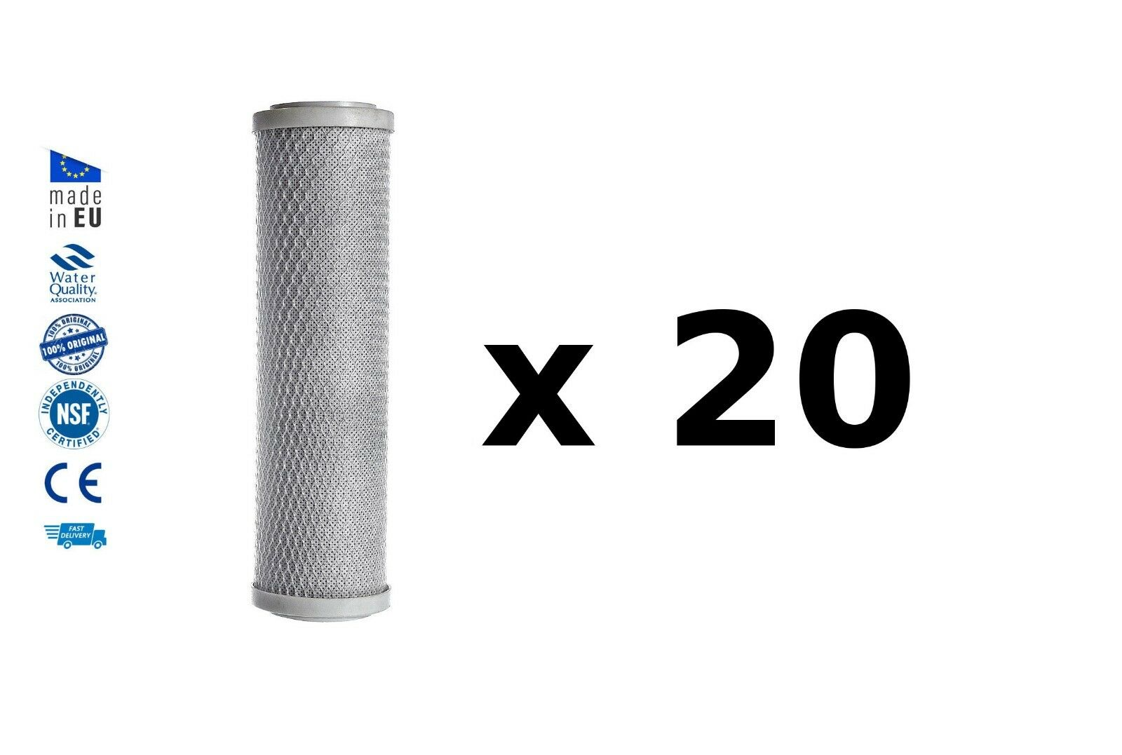 20x Reverse osmosis pre filters activated carbon block water filter replacements