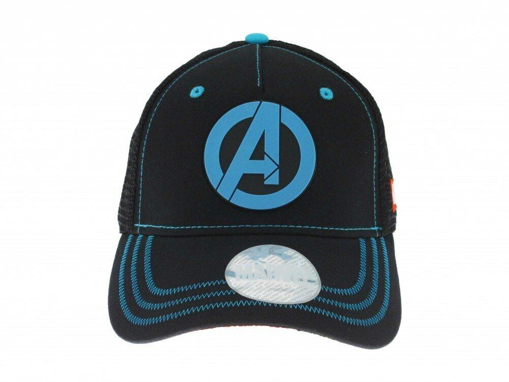 Hut Avengers Marvel Offiziel Schwarz Und Blau Logo Einstellbar 58 CM