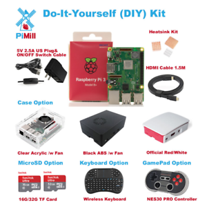 New-Raspberry-Pi-3-Model-B-B-plus-Do-It-Yourself-DIY-Kit-US-Seller