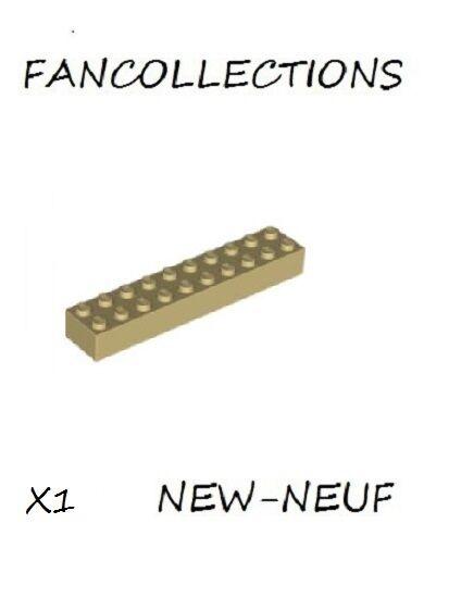 LEGO- X1 Tan Brick 2 x 10 , 3006 NEUF