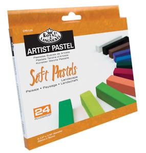 24 Soft Pastels Paysage Couleurs Premium Pigment Pour Artiste Dessin CPA-L24  </span>