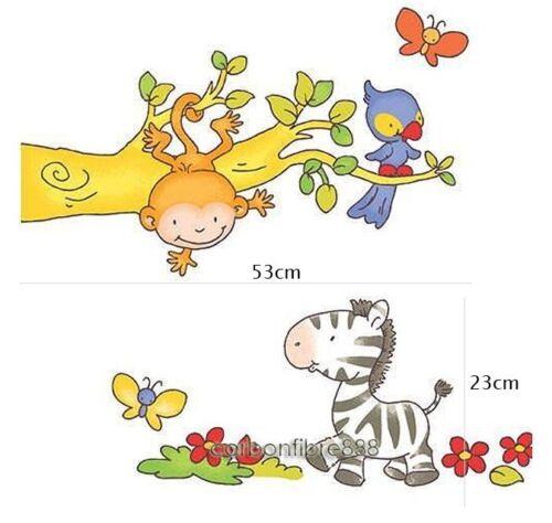 Animal Zebra Monkey Wall Stickers UK Seller