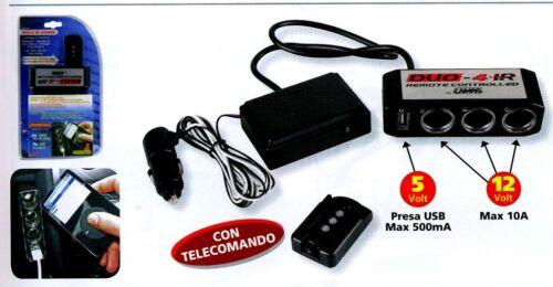 39046 PRESA ACCENDISIGARI CON TELECOMANDO AUTO CAMPER CAS