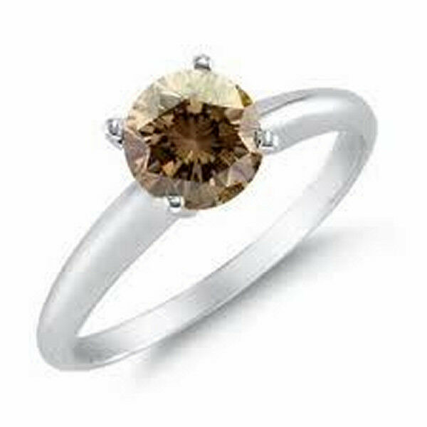 0.50CT Si CHAMPAGNE COLOR SOLITAIRE DIAMOND RING