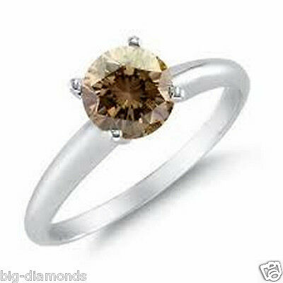 0.50CT VVS CHAMPAGNE COLOR SOLITAIRE DIAMOND RING