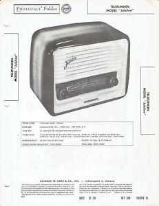 Details about ORIGINAL 1956 Telefunken Radio