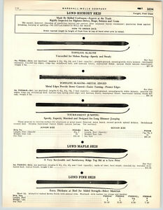 Collectibles 1949 Paper Ad Lund Hickory Snow Skies Topflite Slolom Bindings Poles