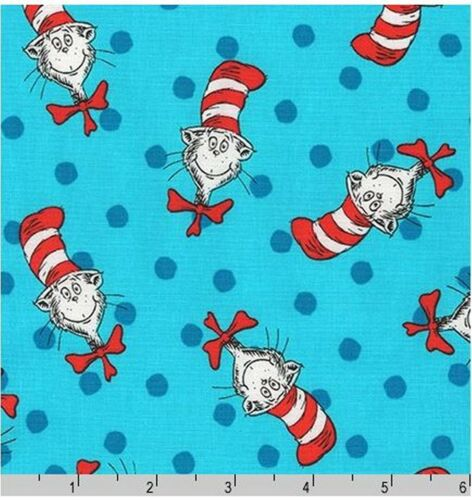 Celebration By Dr Seuss The Cat in The Hat Tossed Dots Cotton Fabric 17255-203