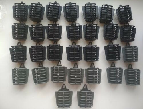 30 pcs Carp Fishing Feeder Bait Cage Lure Holder Basket Sinker Tackle 30g //1.1oz