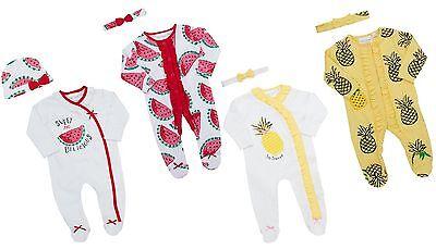 Babytown Baby Ragazze 2 Pezzo Pigiama & Fascia Set-mostra Il Titolo Originale Prezzo Di Vendita