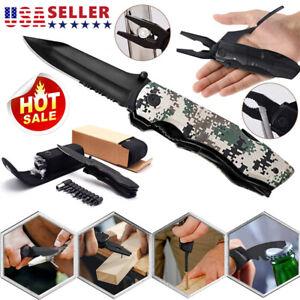 Multi tool Folding Knife Multipurpose Outdoor Folding Pocket Pliers Multitool US