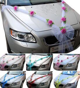 Hochzeit Autodeko Brautauto Autoschmuck Hochzeitsauto Autogirlande