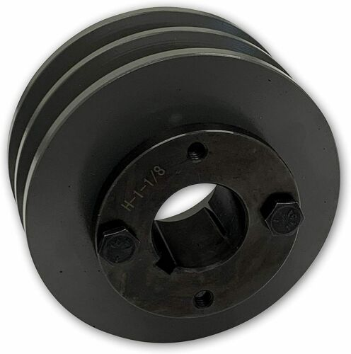 """TWO GROOVE 3L 4L A BELTS 2 GROOVE CAST IRON ELECTRIC MOTOR PULLEY SHEAVE 5.25/"""""""