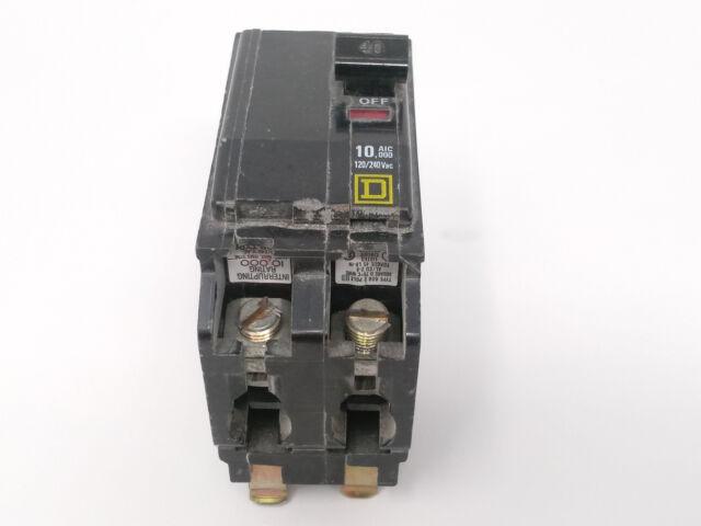SQUARE D QOB240 40A 240V 2P USED