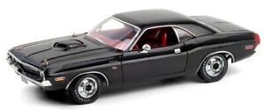 GREENLIGHT,DODGE Challenger R/T 440 1970 noire intérieur rouge,GREEN13585
