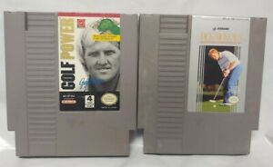 Golf-Power-Jack-Nicklaus-Greg-Norman-Nintendo-NES-Authentic-Game-Tested-Works